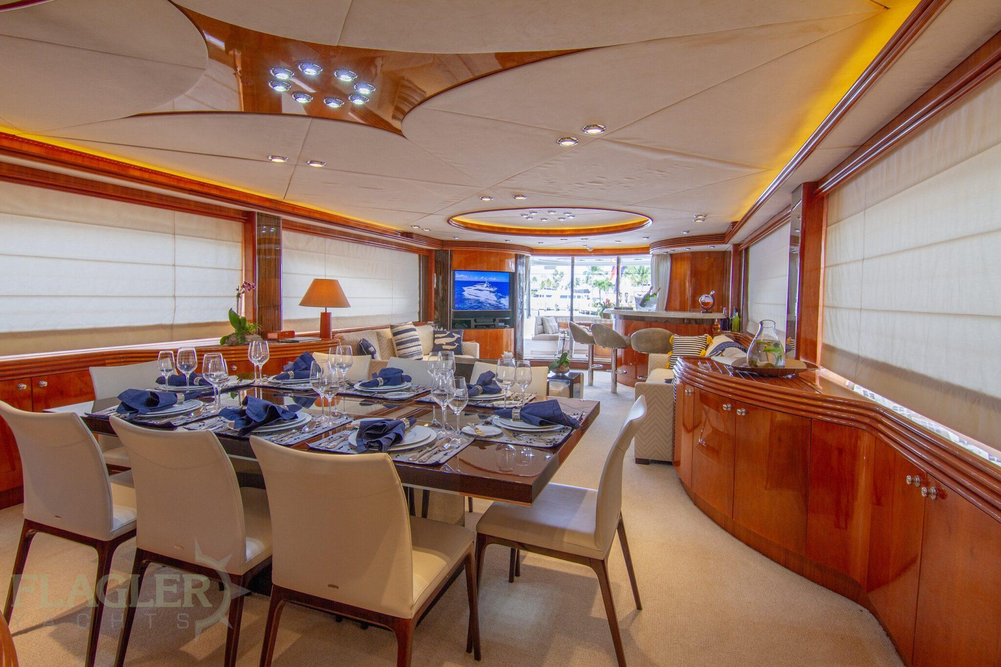 sunseeker 105 yacht for sale flagler yachts used yacht dining salon