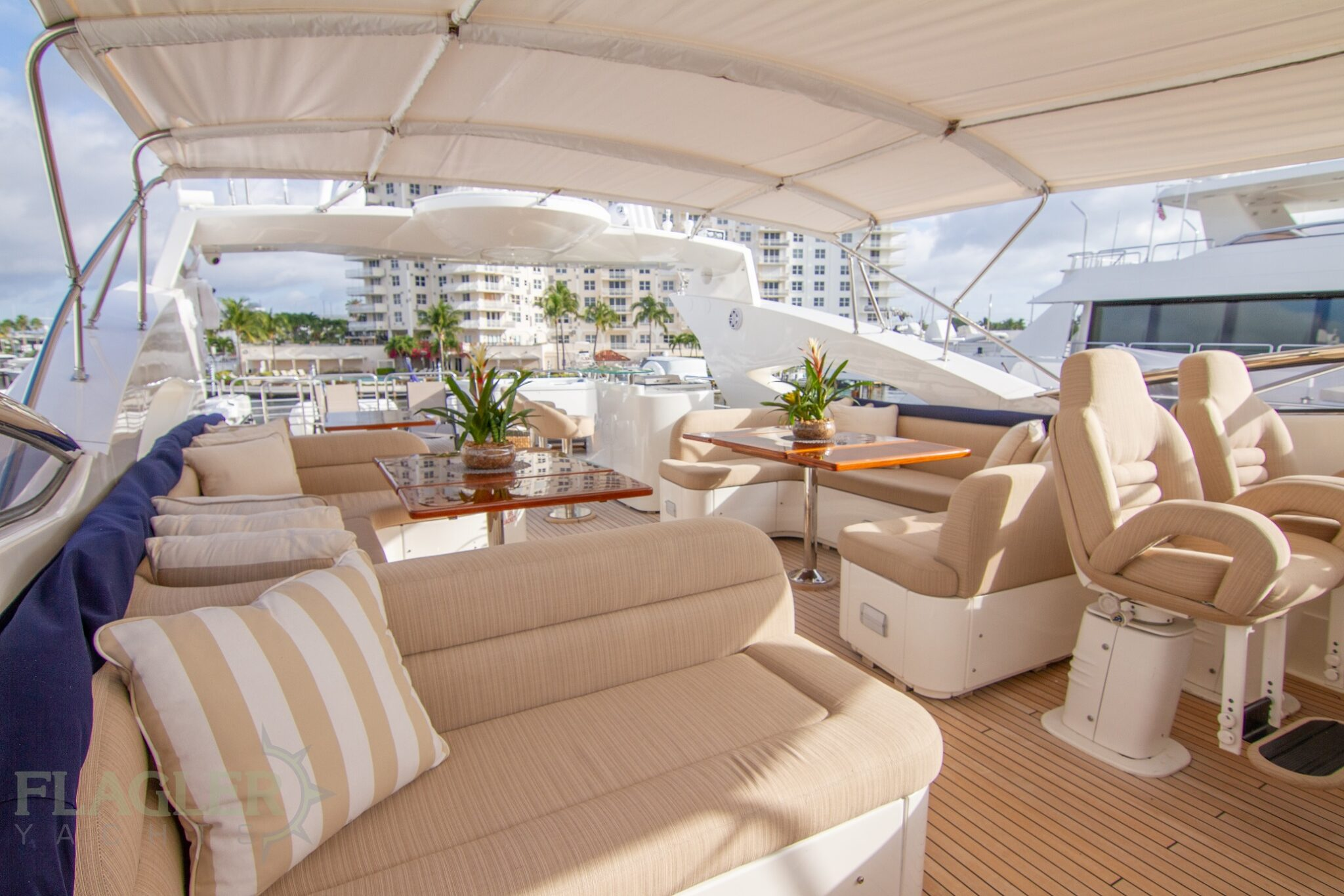 sunseeker 105 yacht for sale flagler yachts used yacht flybridge