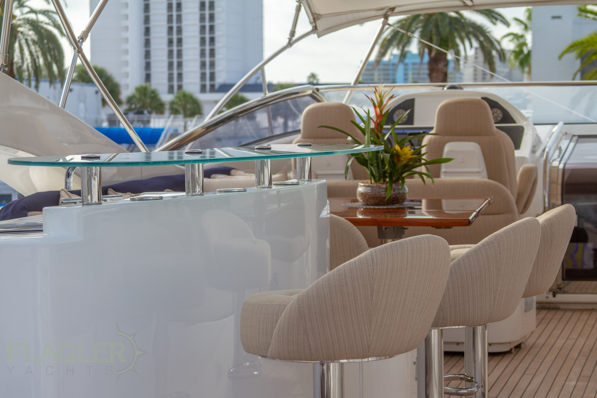 sunseeker 105 yacht for sale flagler yachts used yacht flybridge bar