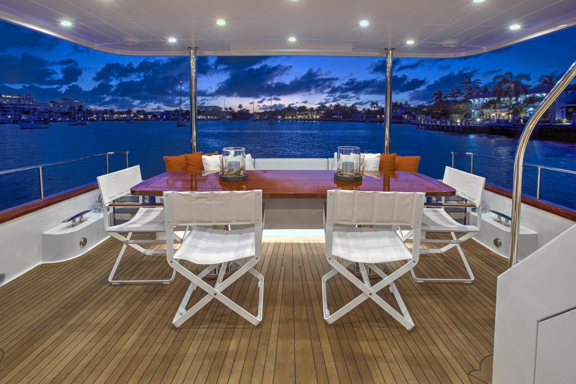 67 Vicem Cruiser for sale Flagler Yachts Aft Deck