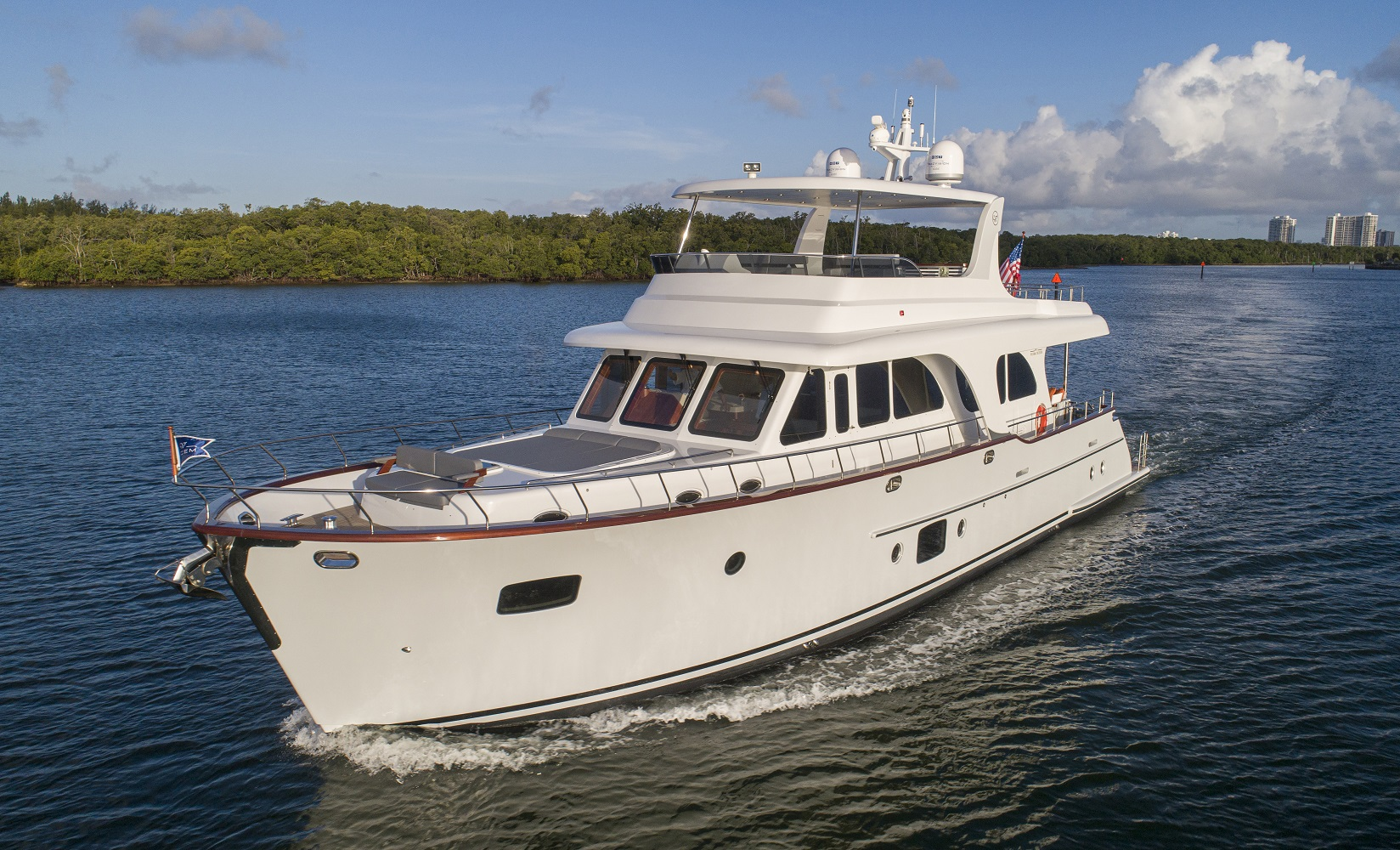 67 Vicem Cruiser for sale Flagler Yachts Bow Profile